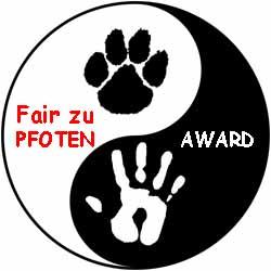 Fair zu Pfoten Die Streichelbeauftragte wurde für Tierliebe und ihren Blog vom Einsiedler ausgezeichnet